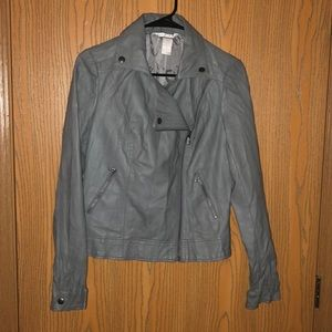 Candies Gray Leather Jacket